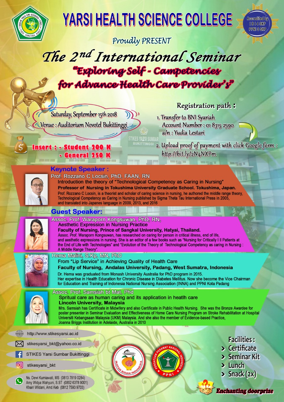 Seminar Internasional Exploring Self - Competence for Advance Health Care Providers